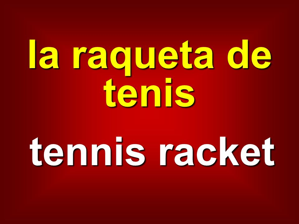 la raqueta de tenis tennis racket