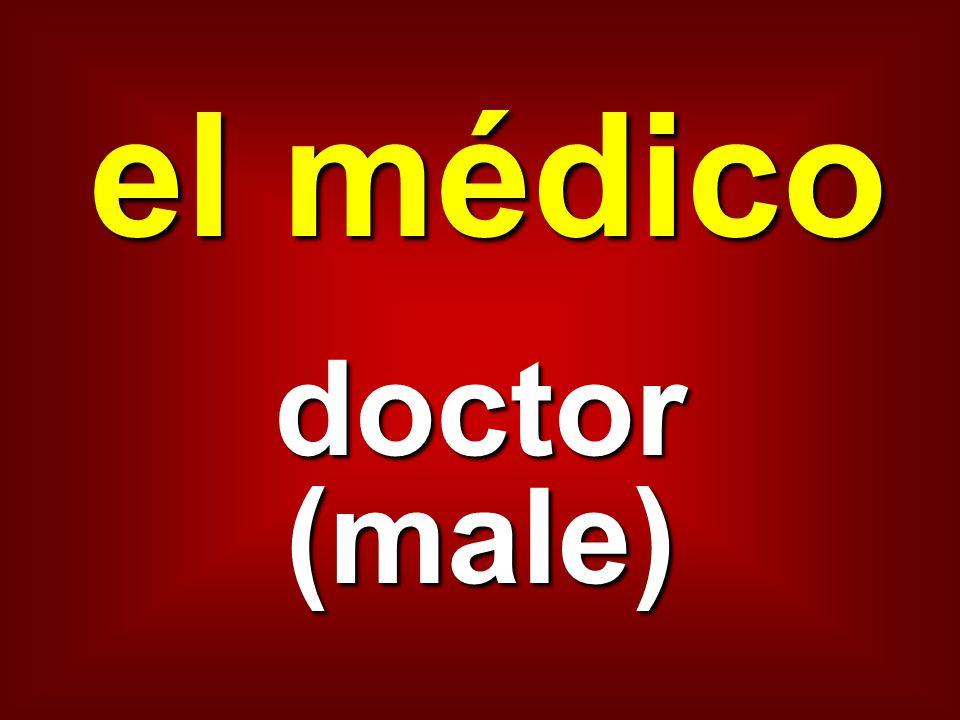 el médico doctor (male)