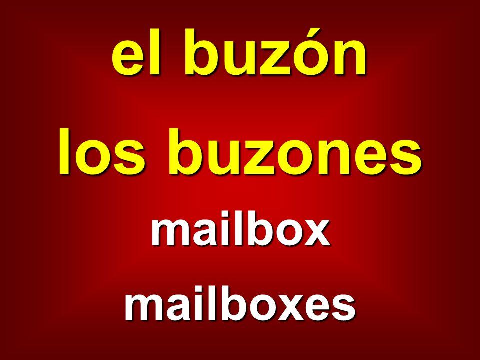 el buzón los buzones mailboxmailboxes