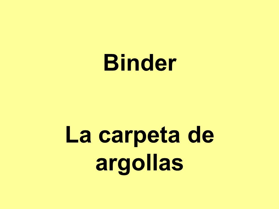 Binder La carpeta de argollas