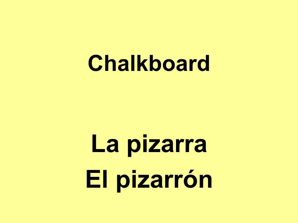 Chalkboard La pizarra El pizarrón