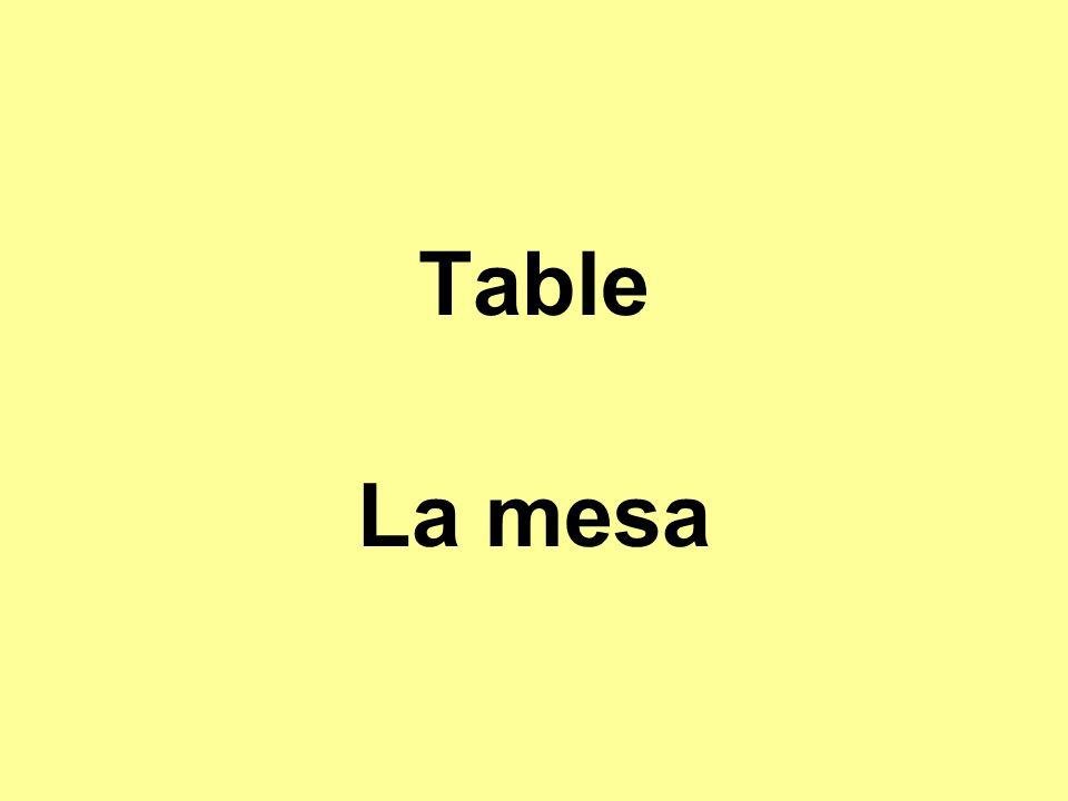 Table La mesa