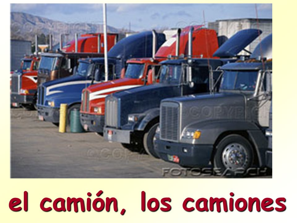 el camión, los camiones