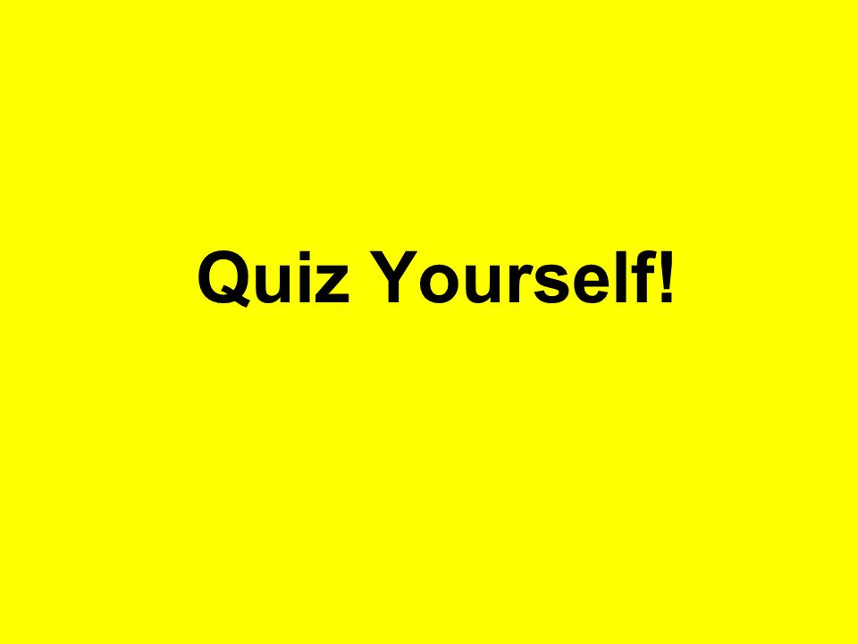 Quiz Yourself!