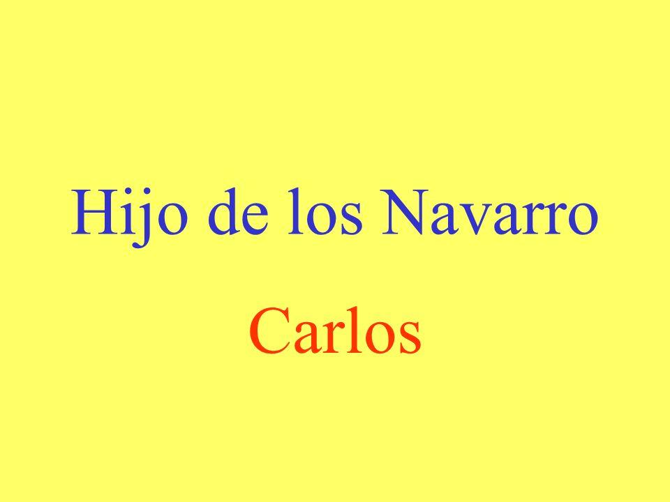 Familia con quién casí se queda Jaime Los Navarro
