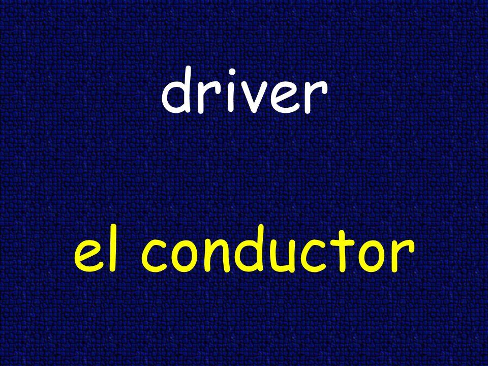 driver el conductor