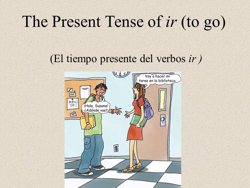 The Present Tense of ir (to go) (El tiempo presente del verbos ir )