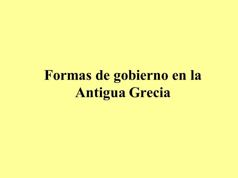 Formas de gobierno en la Antigua Grecia