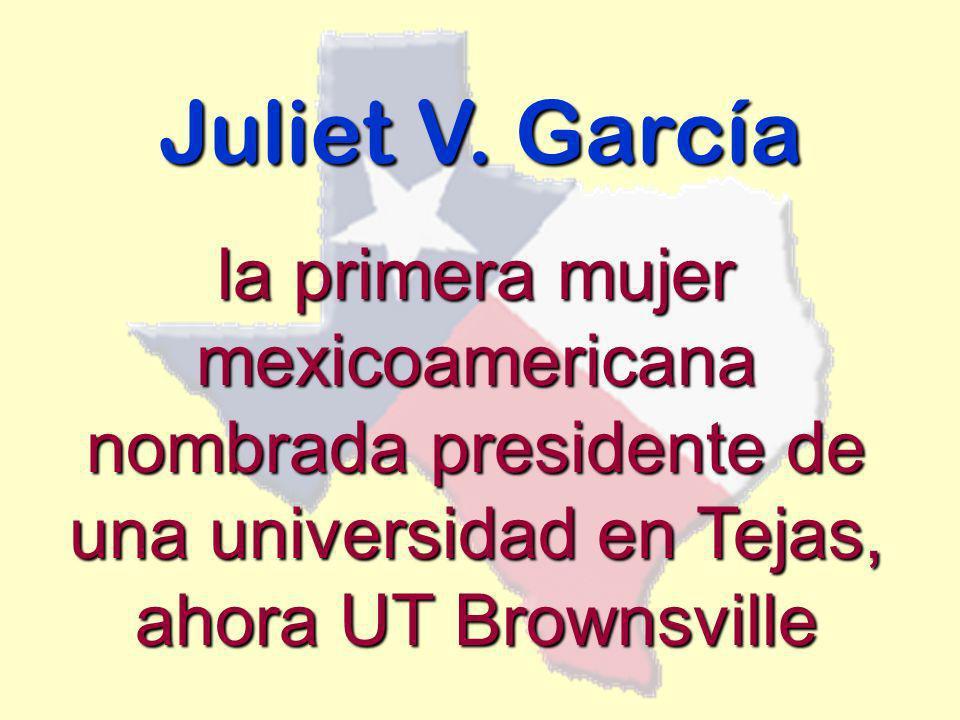 Juliet V. García la primera mujer mexicoamericana nombrada presidente de una universidad en Tejas, ahora UT Brownsville