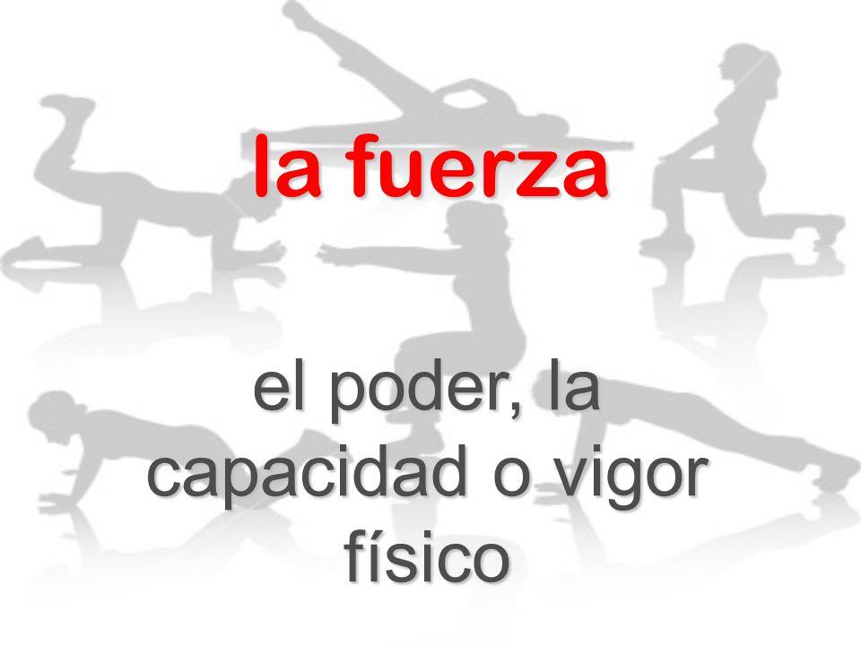 la fuerza el poder, la capacidad o vigor físico