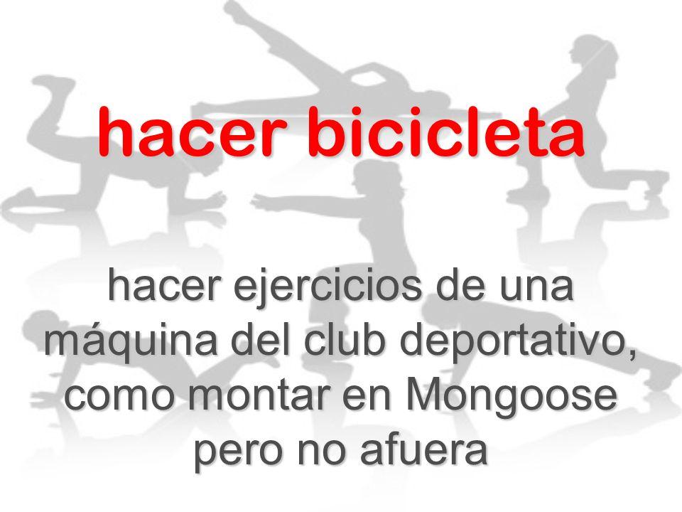 hacer bicicleta hacer ejercicios de una máquina del club deportativo, como montar en Mongoose pero no afuera