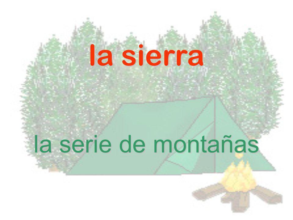 la sierra la serie de montañas