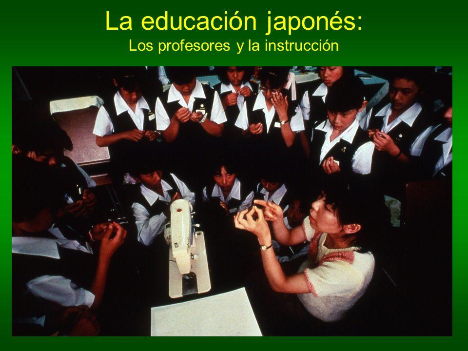 Los profesores son respetados sumamente (highly).