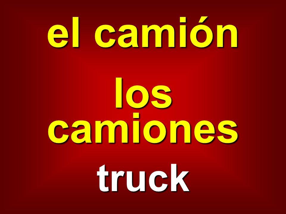 el camión los camiones truck