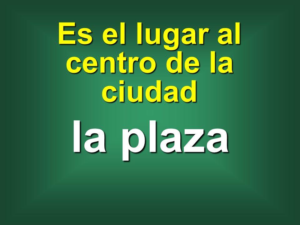 Es el lugar al centro de la ciudad la plaza