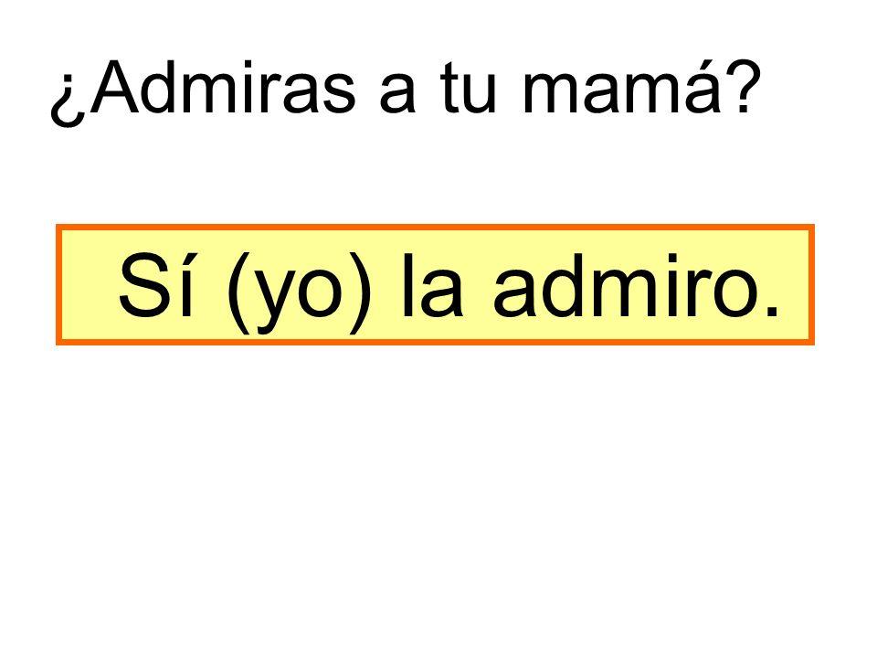 Sí (yo) la admiro. ¿Admiras a tu mamá
