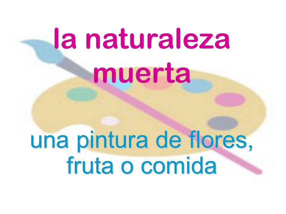 la naturaleza muerta una pintura de flores, fruta o comida