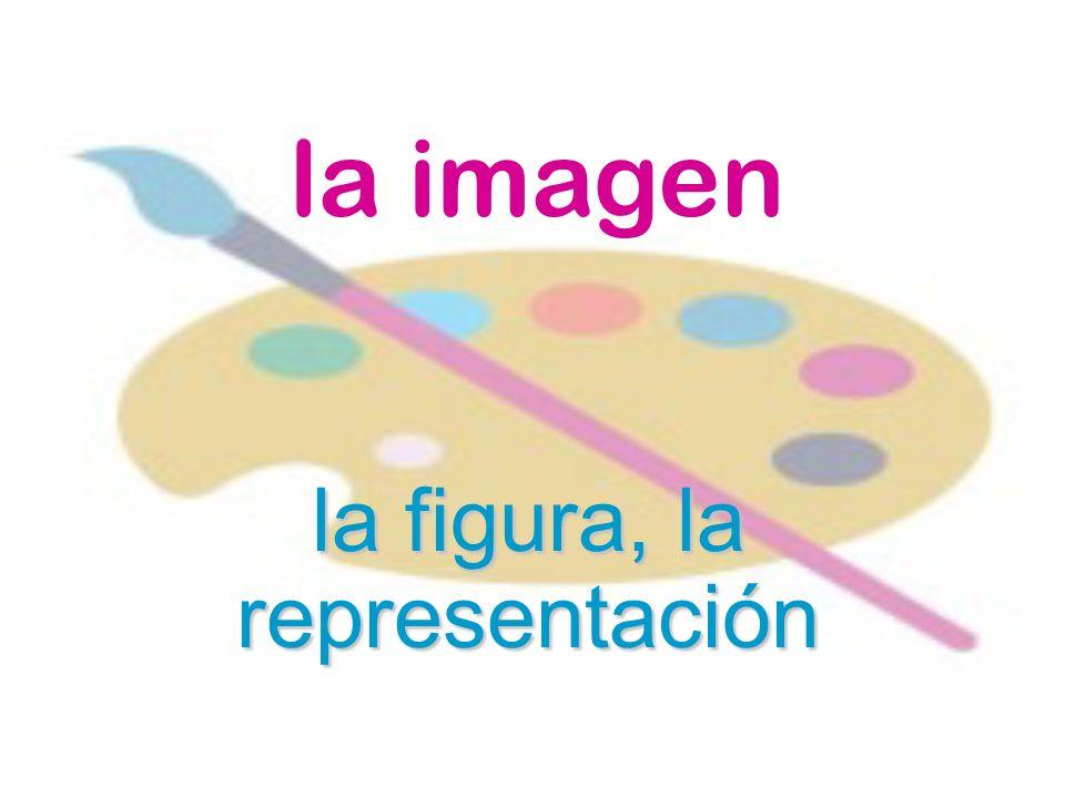 la imagen la figura, la representación