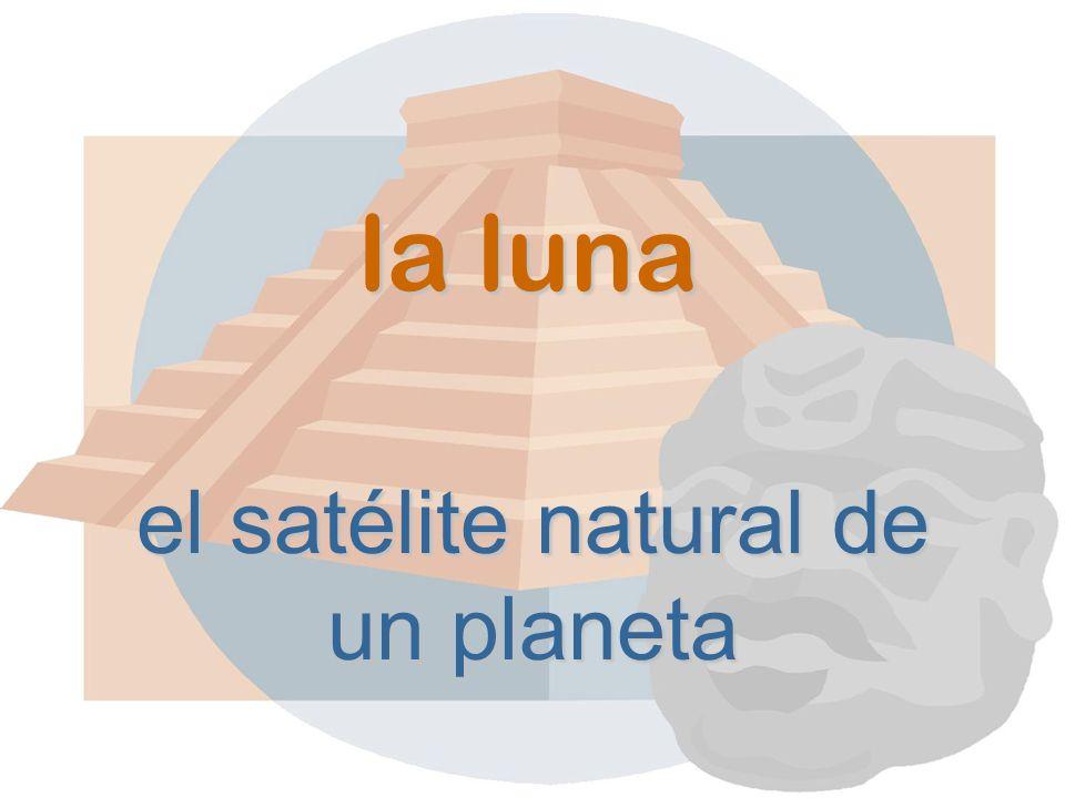 la luna el satélite natural de un planeta