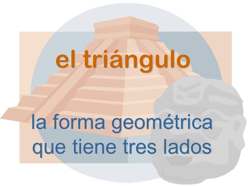 el triángulo la forma geométrica que tiene tres lados