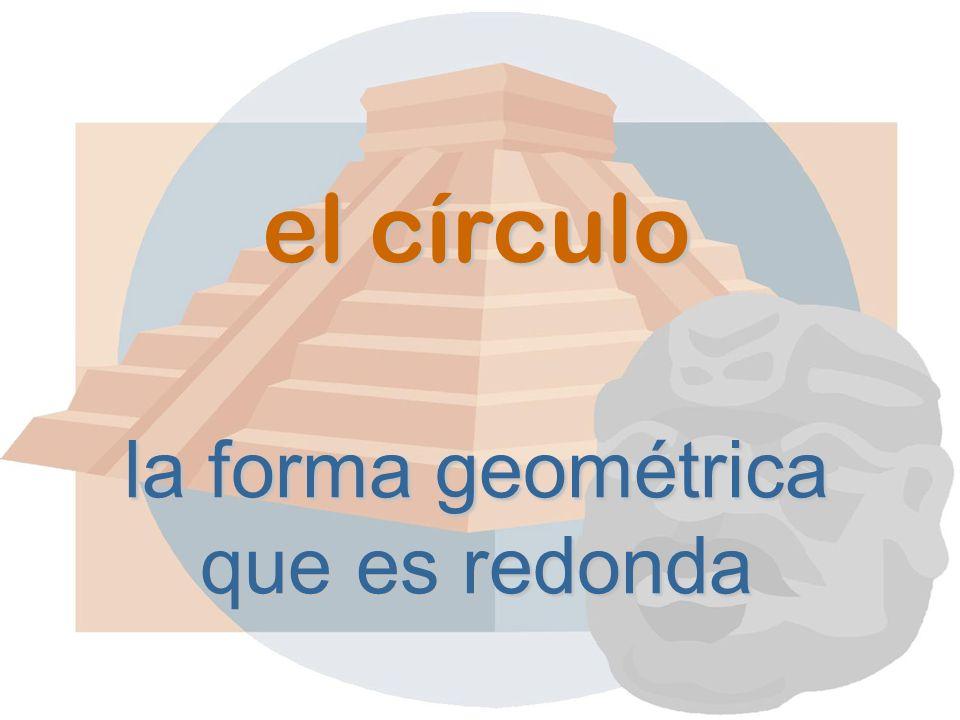 el círculo la forma geométrica que es redonda
