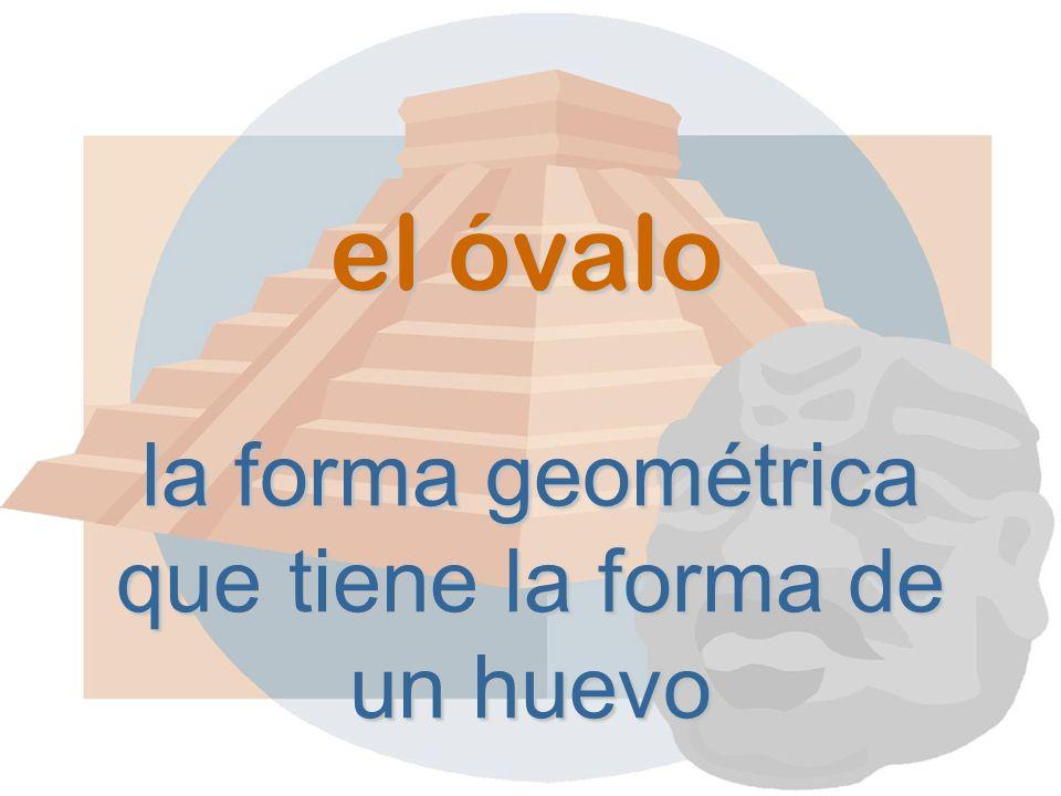el óvalo la forma geométrica que tiene la forma de un huevo