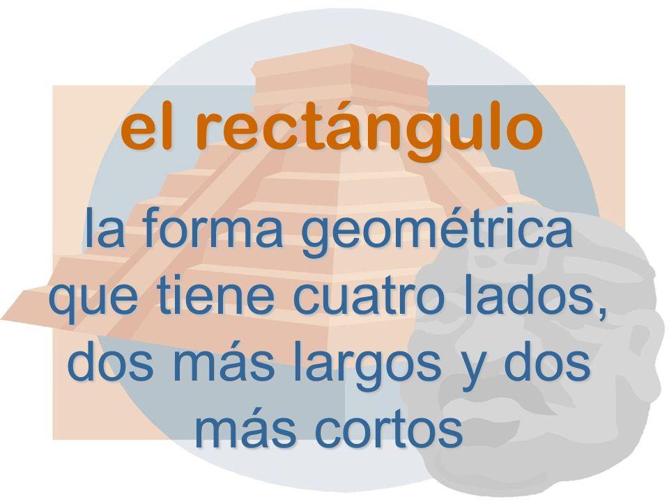 el rectángulo la forma geométrica que tiene cuatro lados, dos más largos y dos más cortos