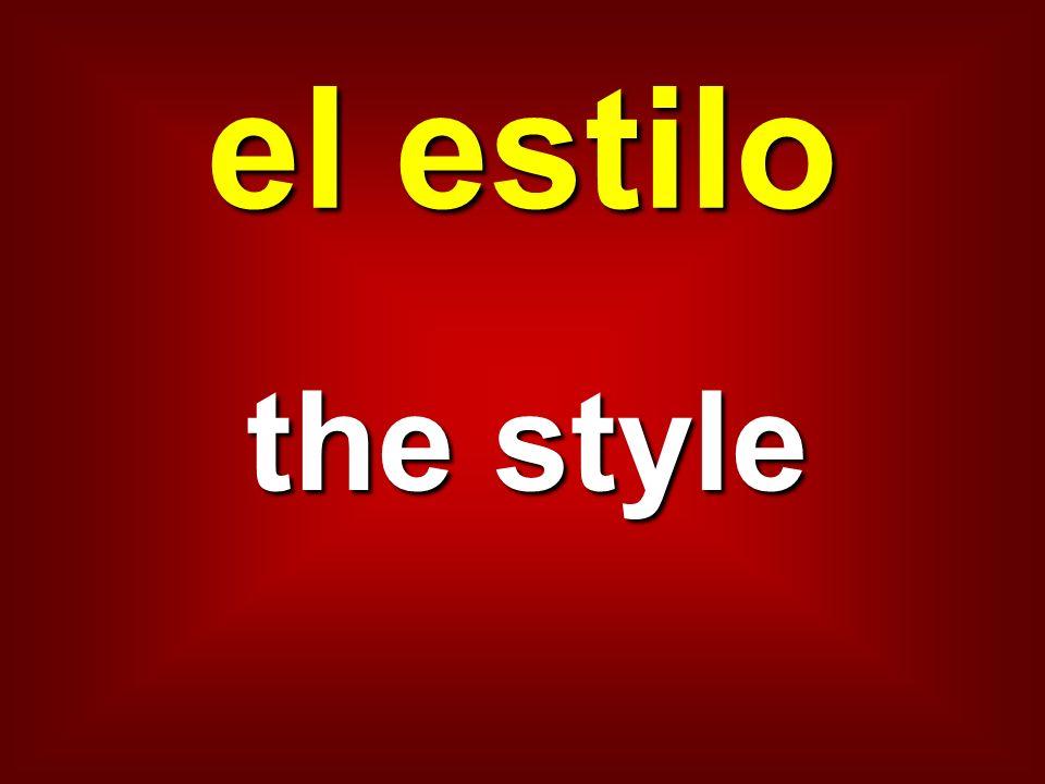 el estilo the style