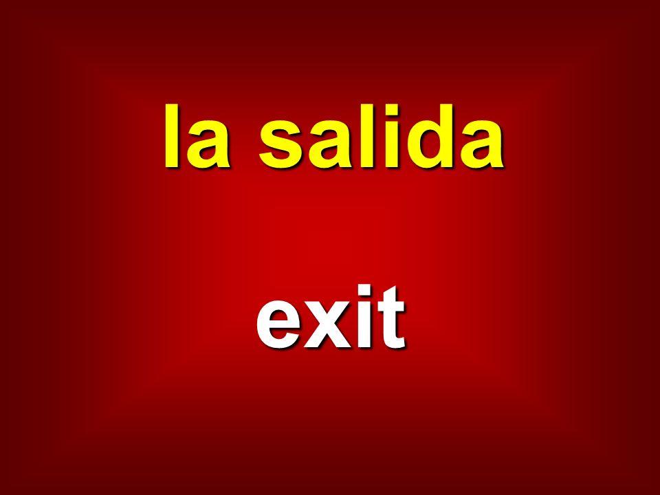 la salida exit