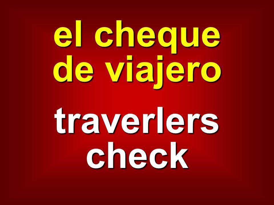 el cheque de viajero traverlers check