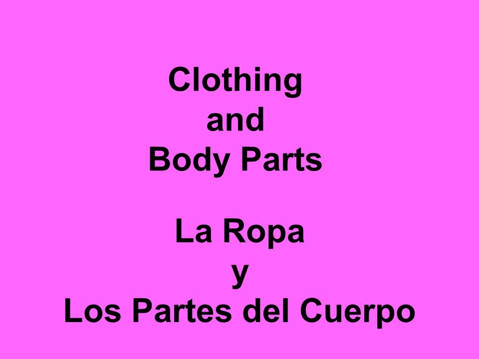 Clothing and Body Parts La Ropa y Los Partes del Cuerpo