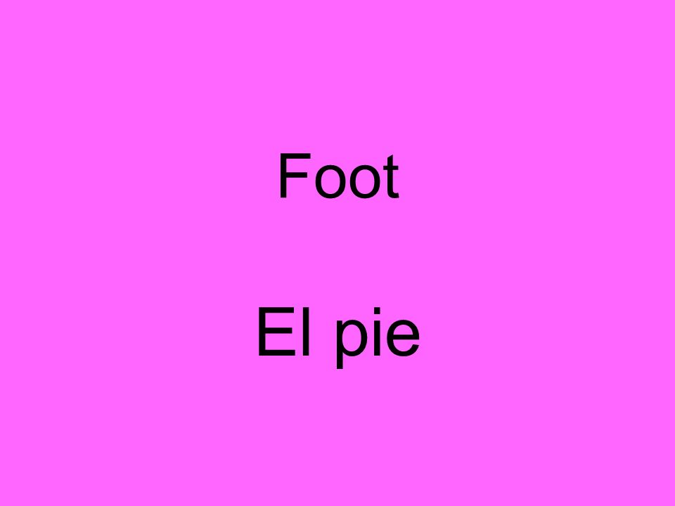 Foot El pie