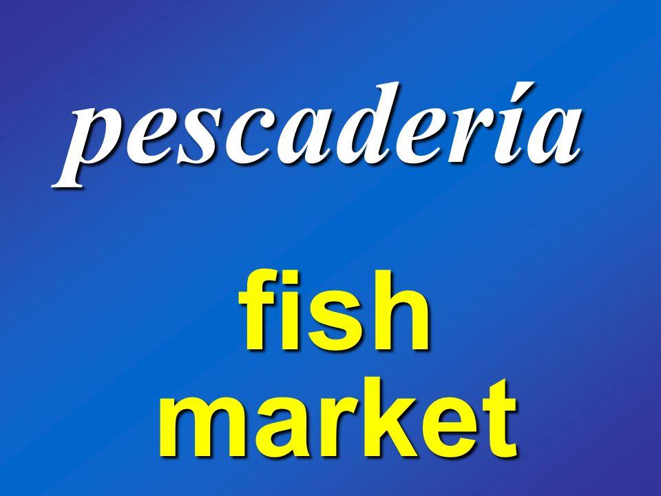 pescadería fish market