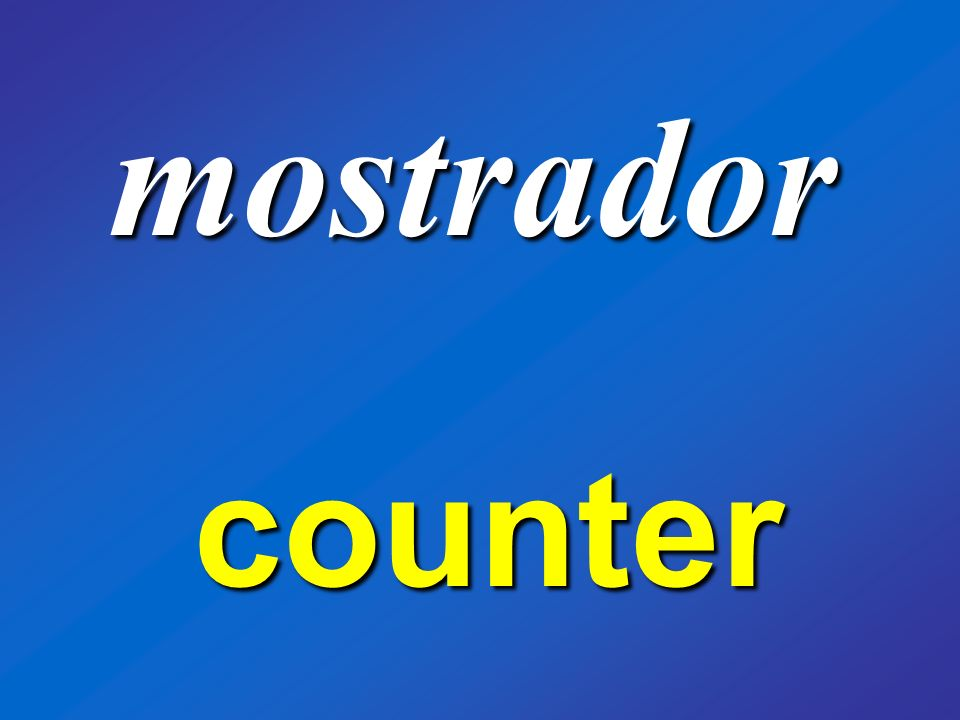mostrador counter