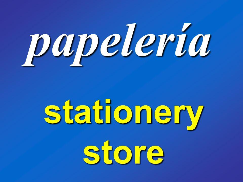 papelería stationery store