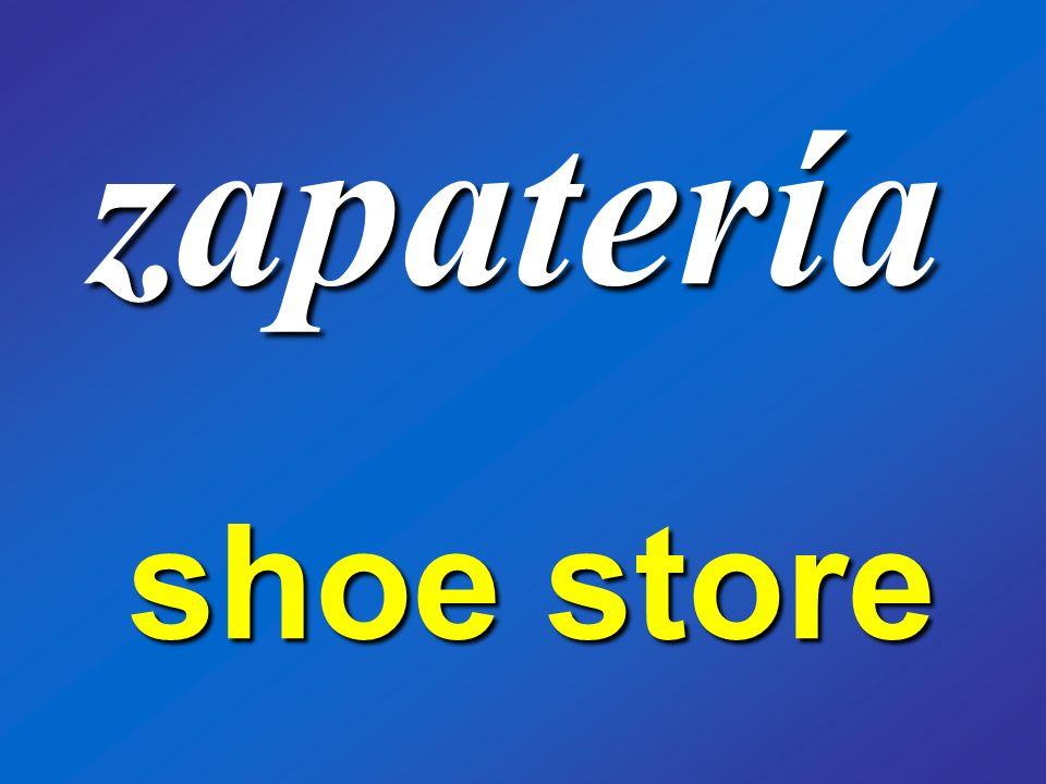zapatería shoe store