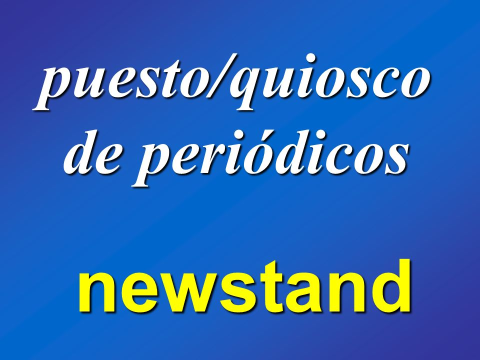 puesto/quiosco de periódicos newstand