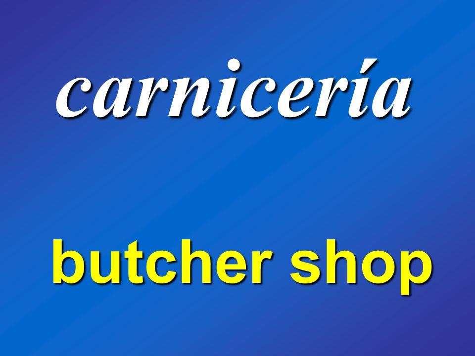 carnicería butcher shop