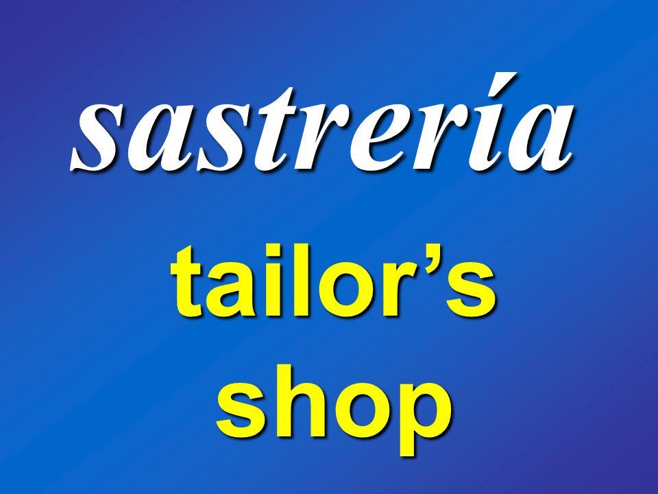 sastrería tailors shop