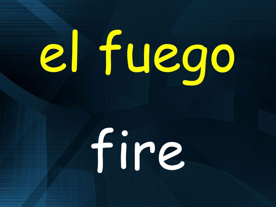 el fuego fire