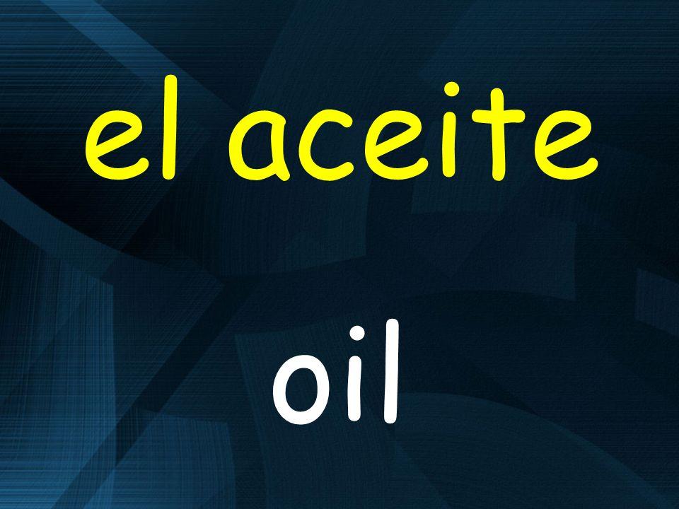 el aceite oil