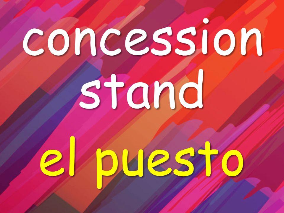 concession stand el puesto