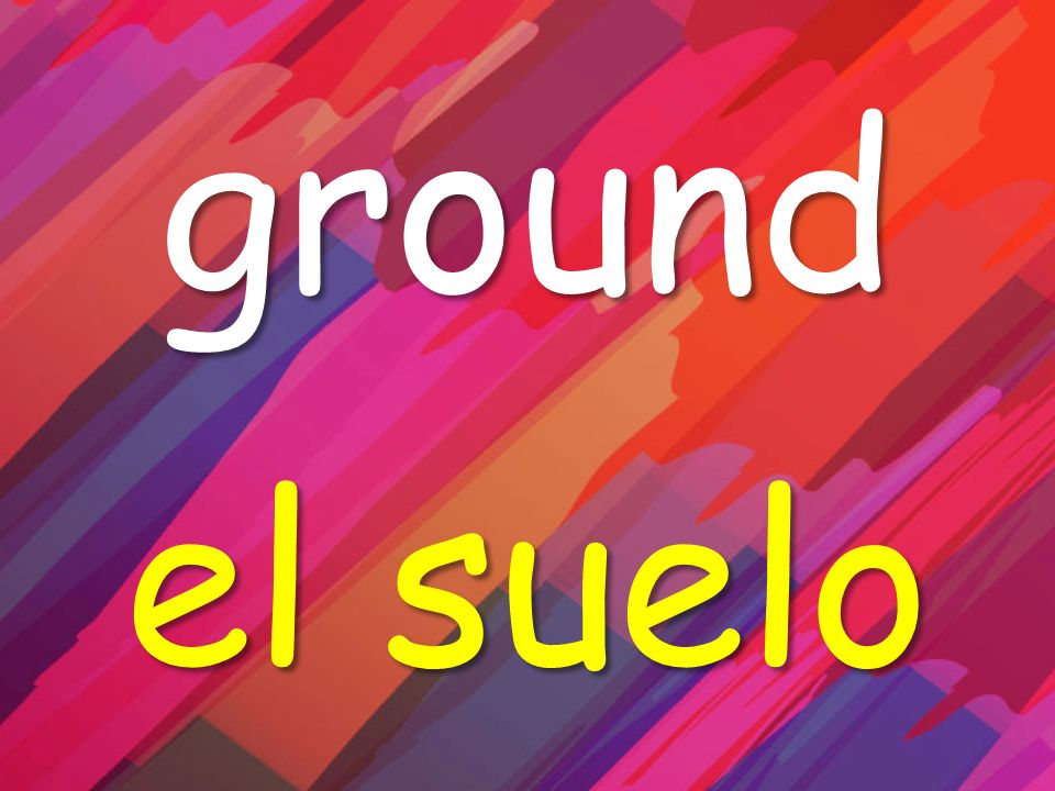 ground el suelo