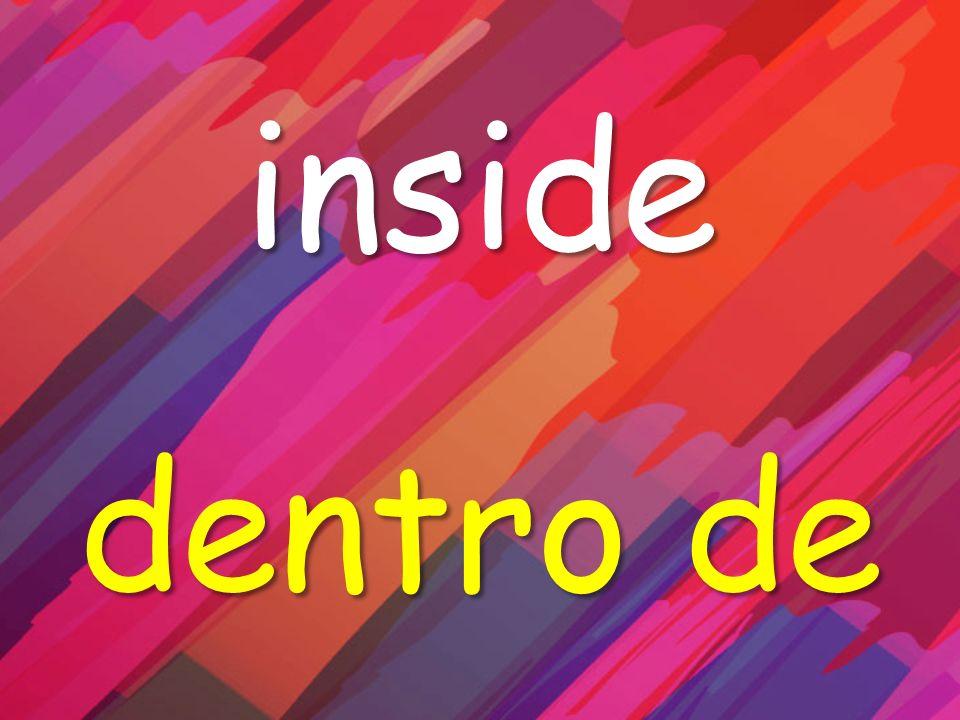 inside dentro de