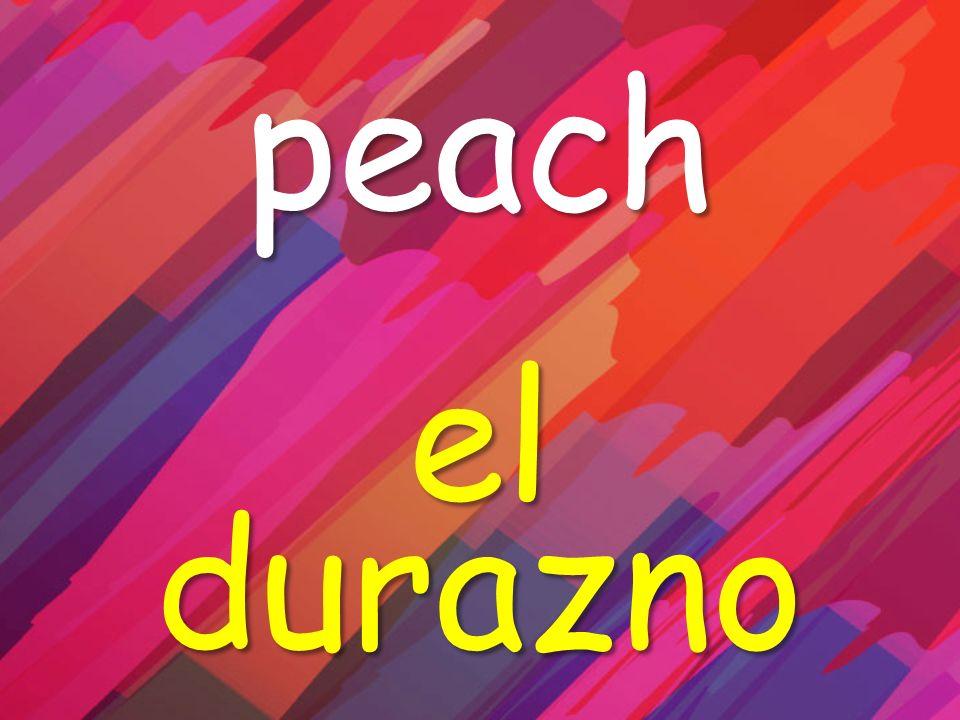 peach el durazno