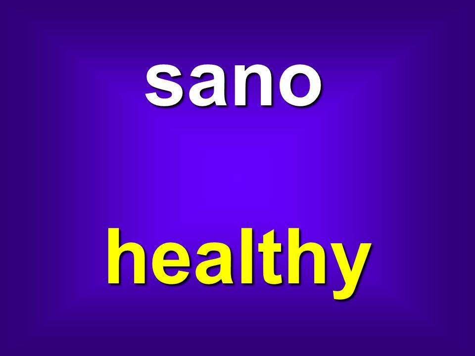 sano healthy