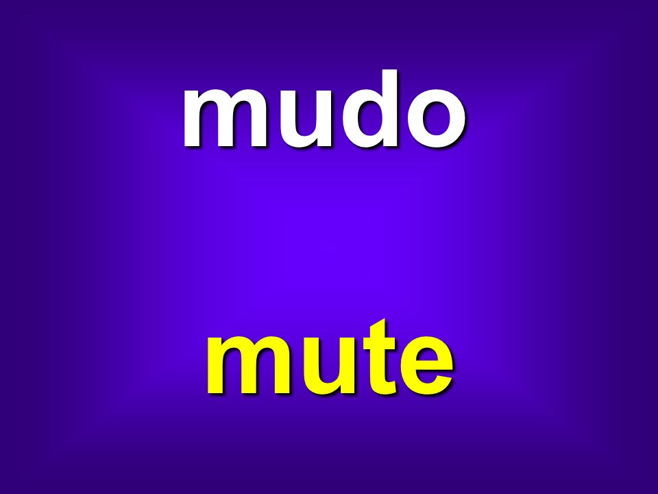 mudo mute
