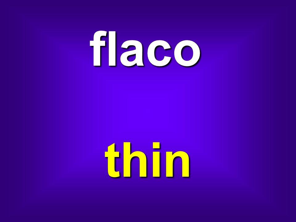 flaco thin