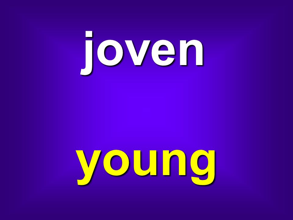 joven young
