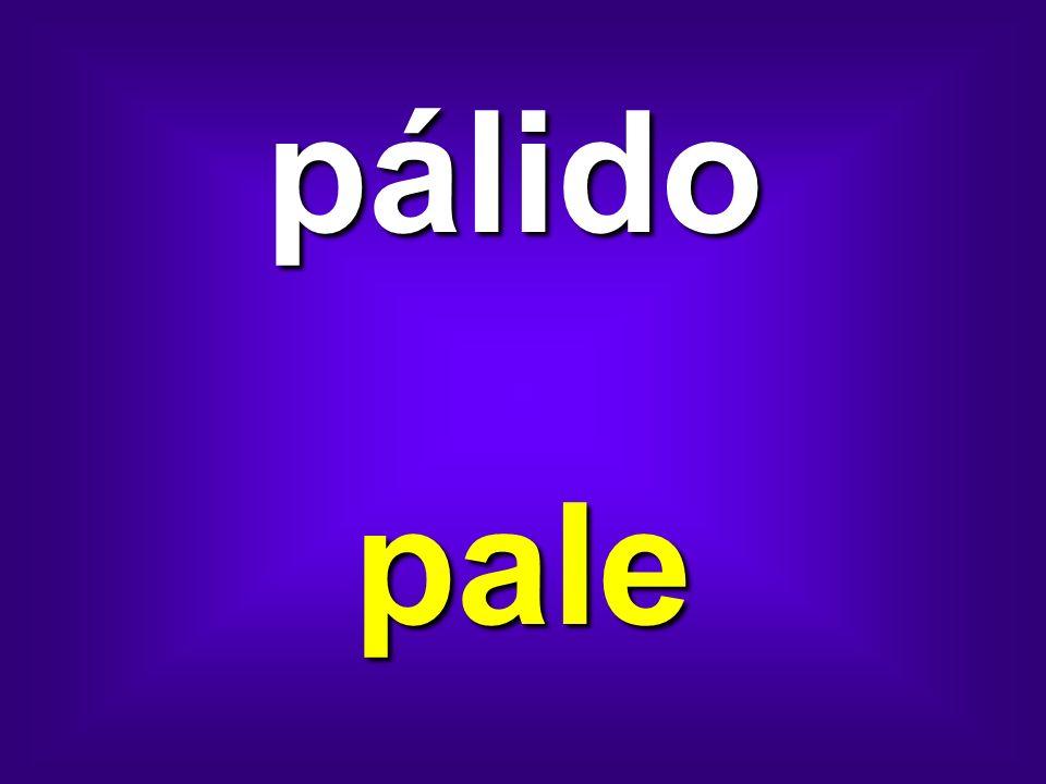 pálido pale